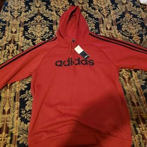 Two adida jogger hoodies and one pair of jogger pa